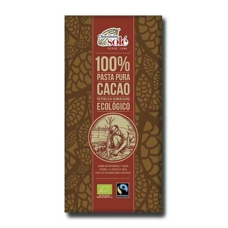 Chocolate Organico 100% Solé 100g