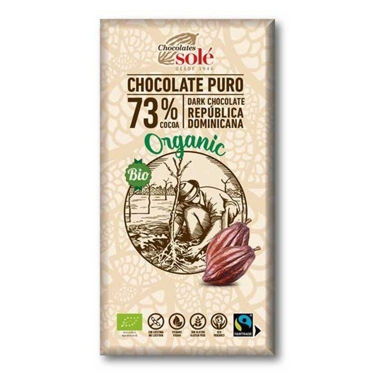 Chocolate organico 73% Solé 100g
