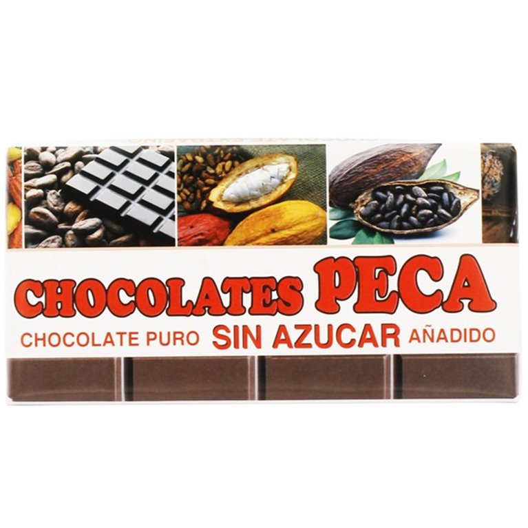 Chocolate peca puro sin azucar