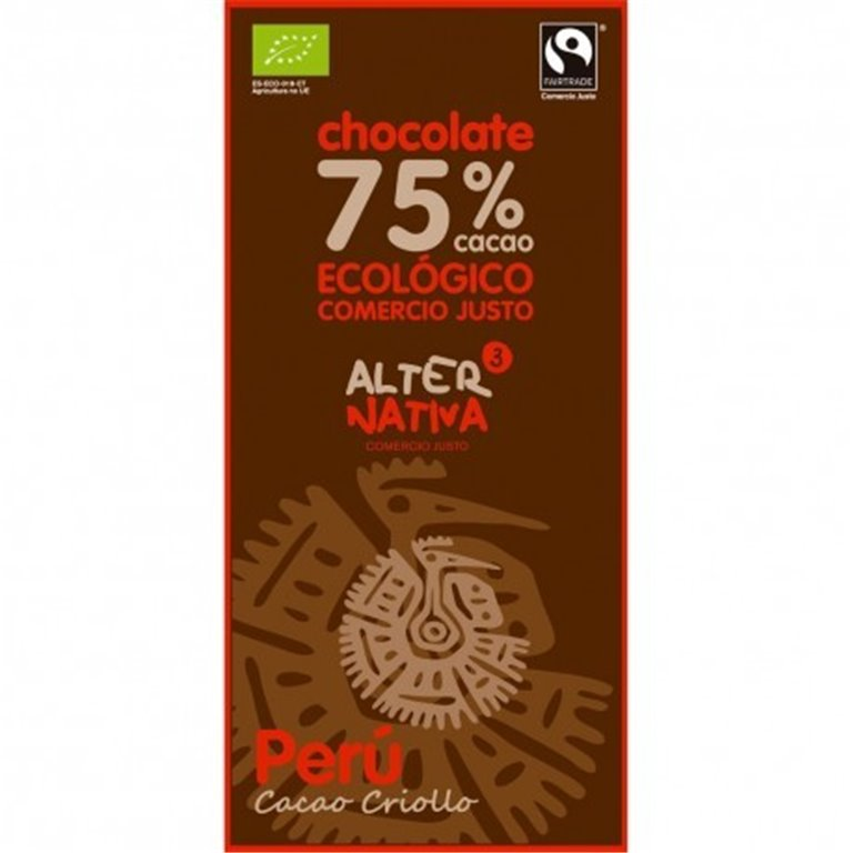 Chocolate Peru 75% Cacao, 1 ud