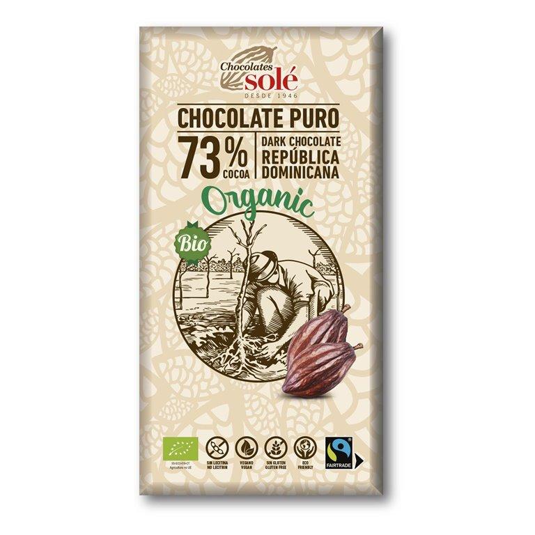 Chocolate puro 73% organic