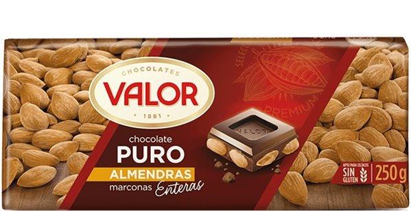 Valor - Chocolate puro con almendras mediterráneas enteras