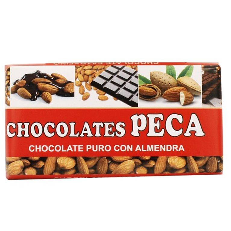 Chocolate puro con almendras peca
