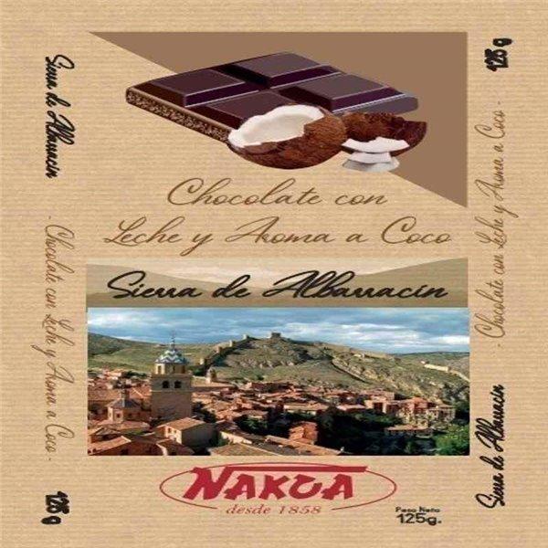 Chocolate Sierra de Albarracín Sabor Coco 125g