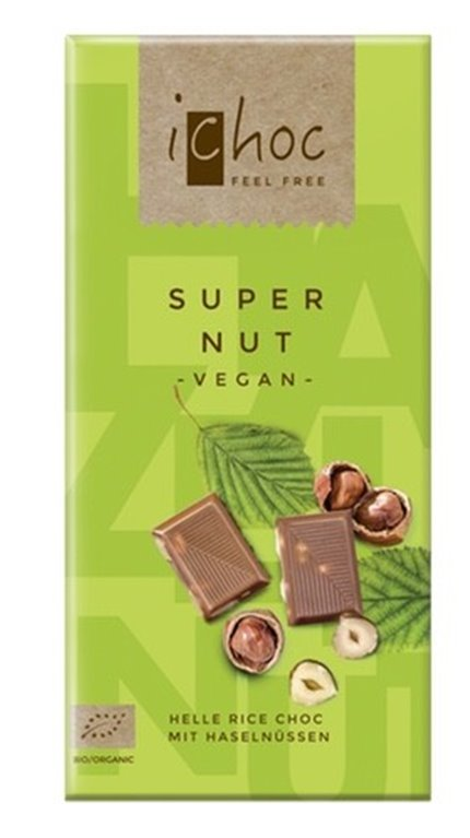 Chocolate super nut vegan, 80 gr