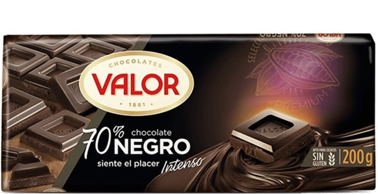 Valor - Chocolate 70% cacao negro (intenso)