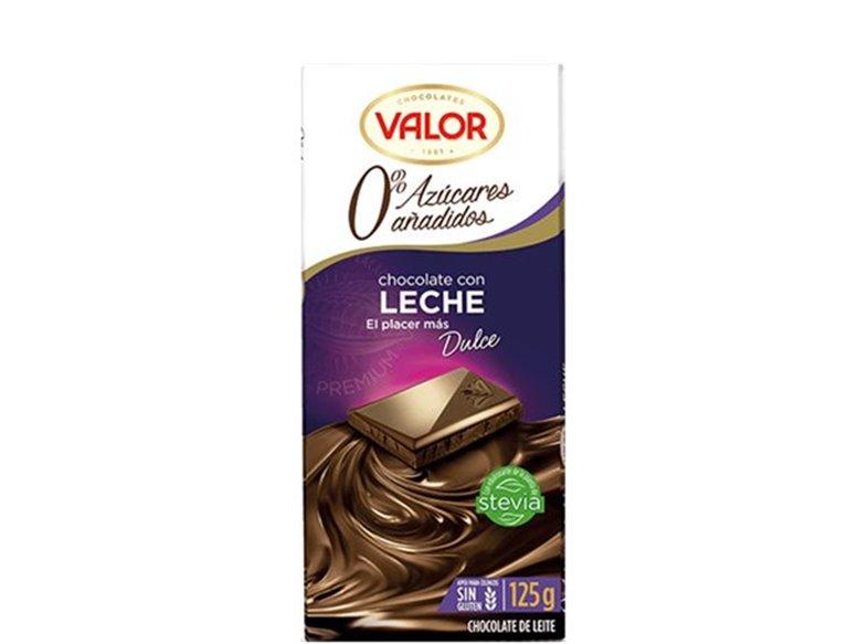 Valor - Chocolate con leche 0% azúcares añadidos (sin gluten)
