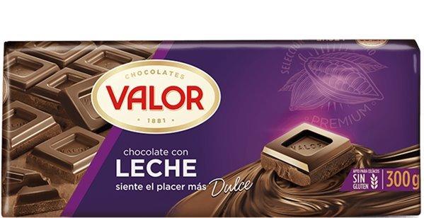 Valor - Chocolate con leche (300 gr, sin gluten)