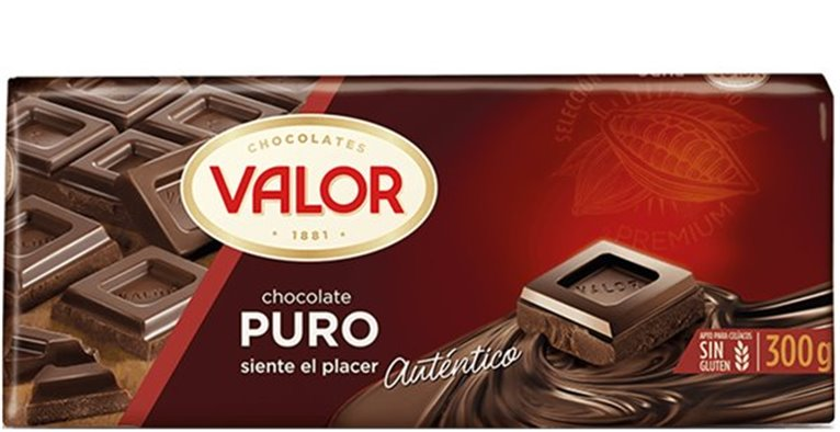 Valor - Chocolate puro (300 gr, sin gluten)