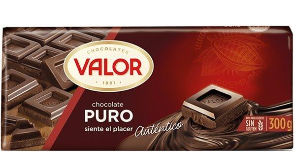 Valor - Chocolate puro (300 gr, sin gluten)