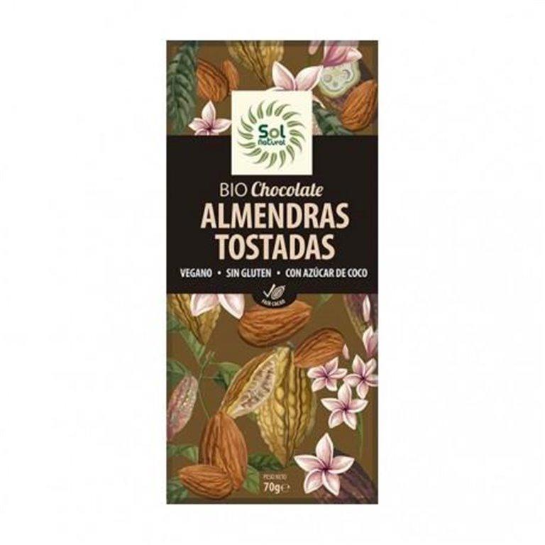 Chocolate con Almendras Tostadas Bio 70g