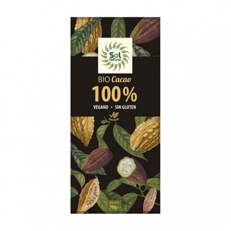 Chocolate 100% Cacao Puro (Sin Azúcar) Bio 70g