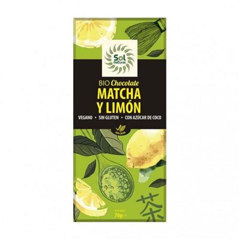 Chocolate con Matcha y Limón Bio 70g