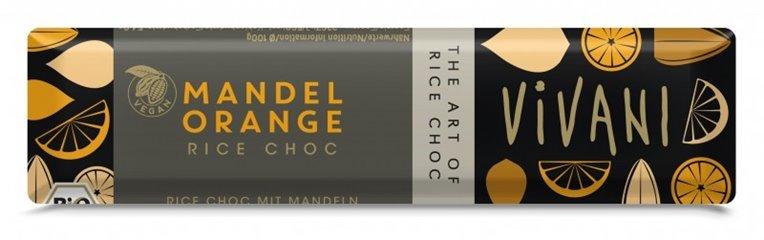 Chocolatina almendra-naranja, 40 gr