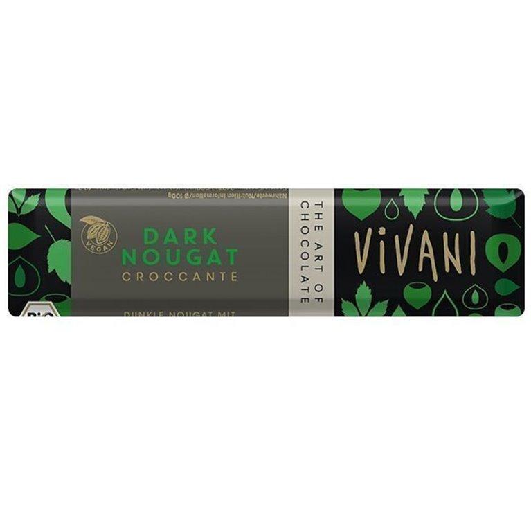 Chocolatina dark nugat, 40 gr