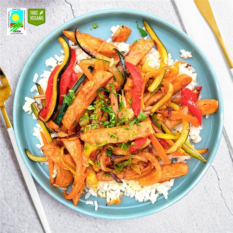 Chop-suey de verduras y Heura