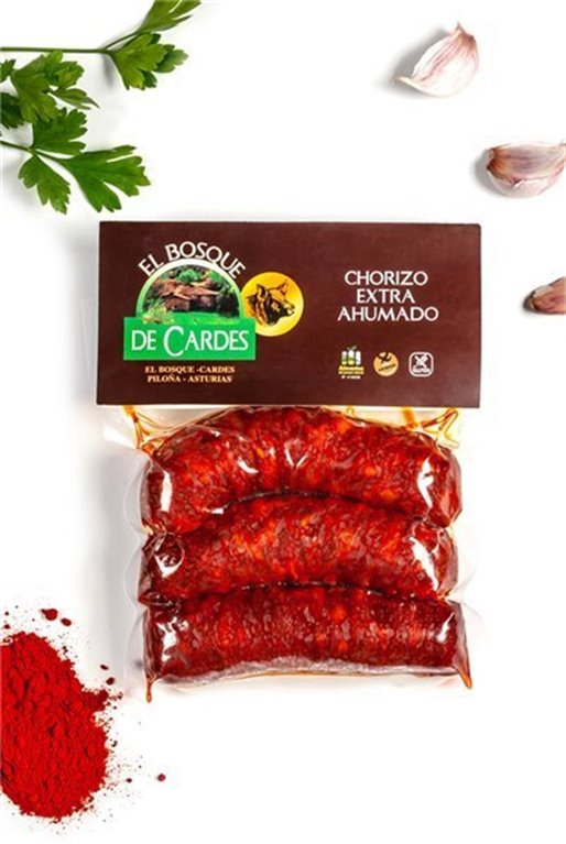 Chorizo asturiano extra PAQ 3 UNID 270GR