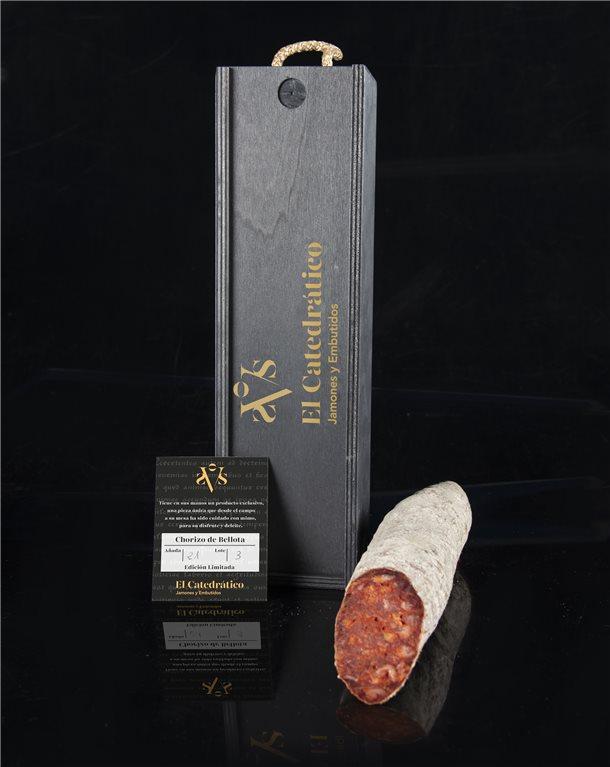 Chorizo Bellota Iberian Acorn-fed Sausage 100% (In wooden box)
