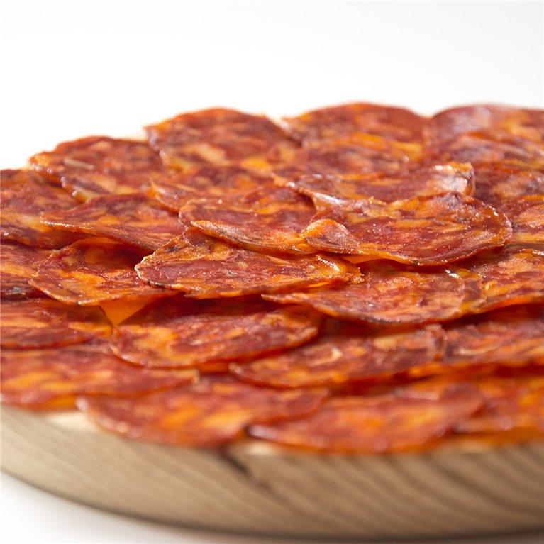 Sliced Chorizo Cular de Bellota Acorn-fed Sausage