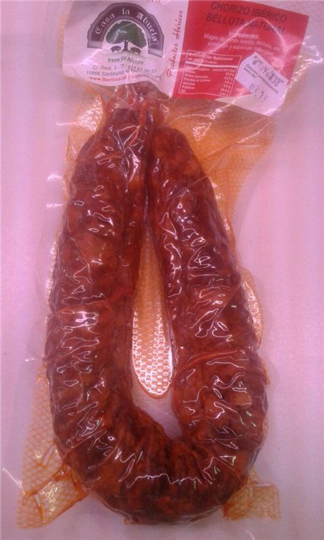 Chorizo ibérico de bellota casero