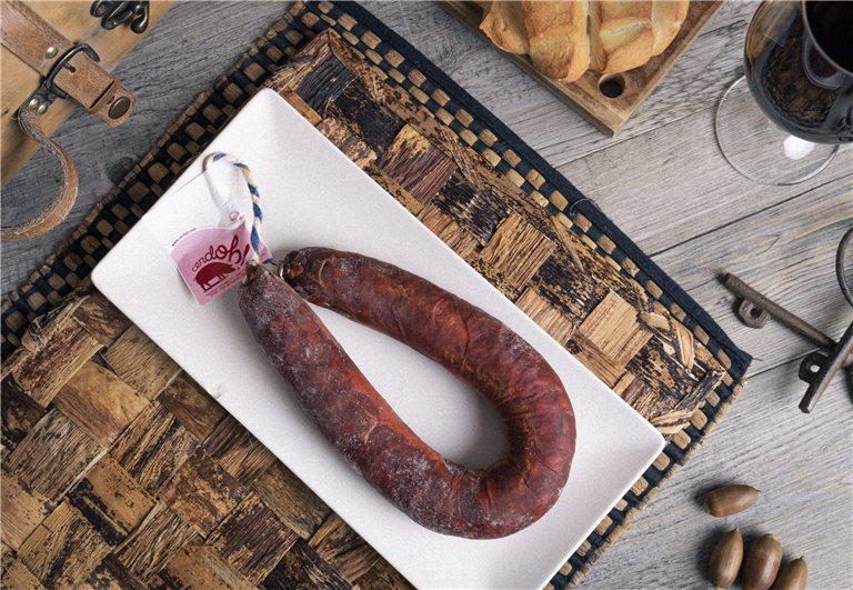Chorizo Ibérico de bellota. Longaniza.