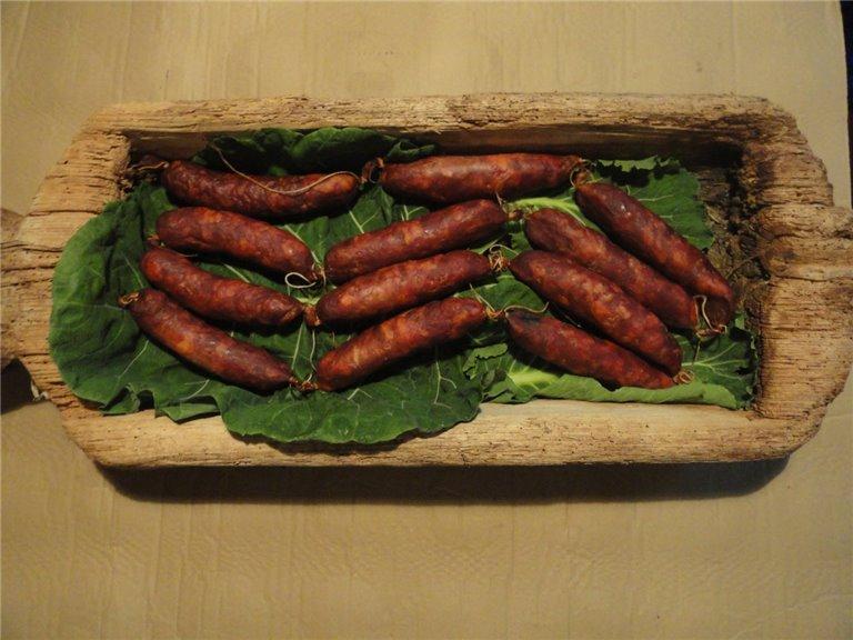 Chorizo Rojo Semicurado 50% cerdo autóctono 50% cerdo blanco 10 a 12 piezas kg., 1 ud