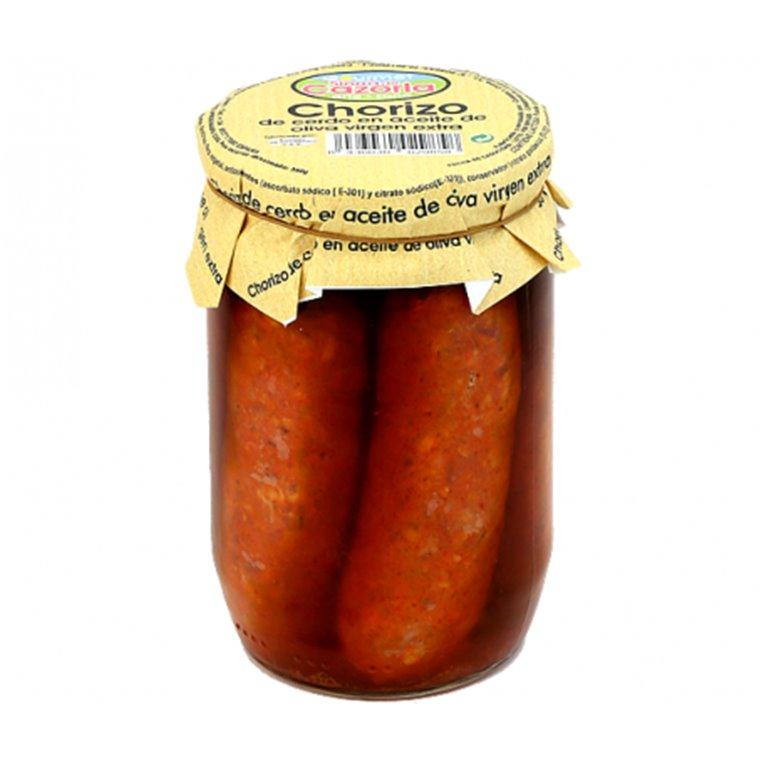 Serrano sausage in extra virgin olive oil. 6 x 530 gr.