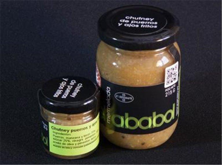 Chutney de puerros y ajos fritos Ababol, 1 ud