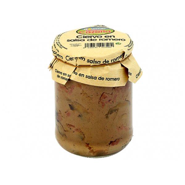Ciervo en salsa de romero. Caja de 6 x 400 gr.