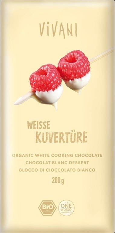 Cobertura chocolate blanco, 200 gr