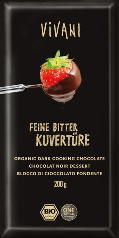 Cobertura chocolate negro, 200 gr