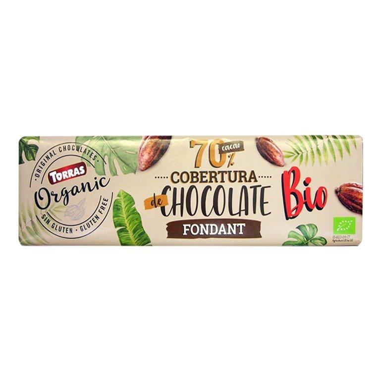 Cobertura de Chocolate 70% Fondant Bio 250g