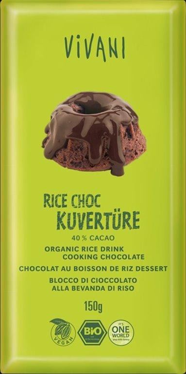 Cobertura de chocolate vegano, 150 gr