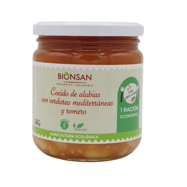 Cocido ecológico de alubias con verduras mediterráneas y romero -280gr