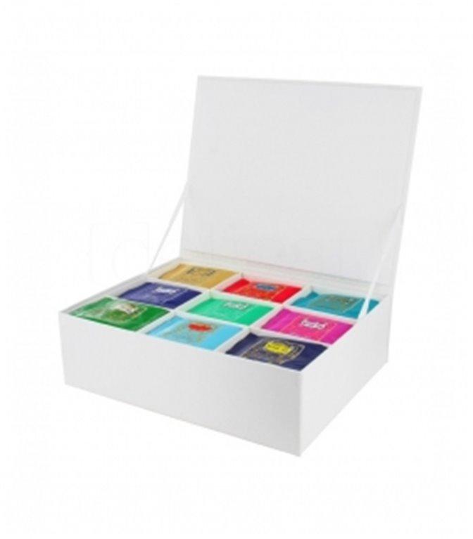 Cofre de cartón para 100 muselinas (vacío). Kusmi Tea. 1un.