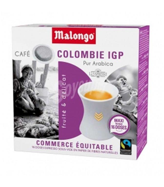 Colombia Supremo Monodosis (16 monodosis) 6,5gr. Café Malongo. 10un.
