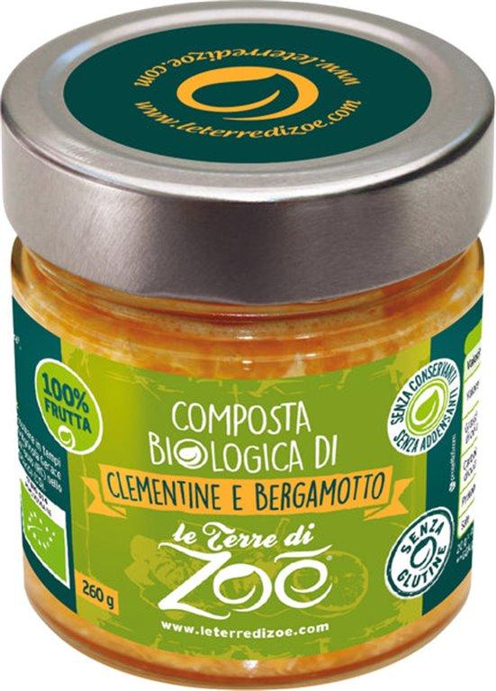 Compota ecológica de mandarina y bergamota 260g
