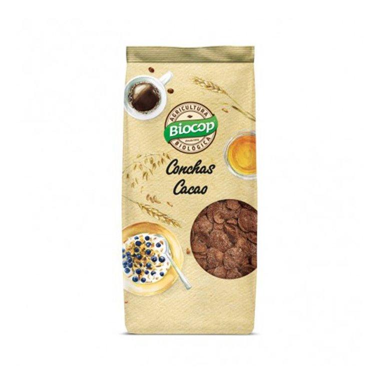 Conchas crujientes de cereales con chocolate bio 250g Biocop