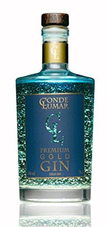 Conde Lumar Premium Gold Gin con oro de 23 kilates, 1 ud