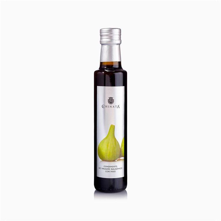 Condimento de vinagre balsámico con higo