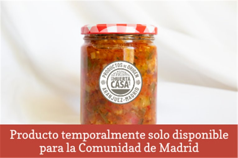 Preserved ratatouille of vegetables from the garden of Aranjuez (jar of 500gr)