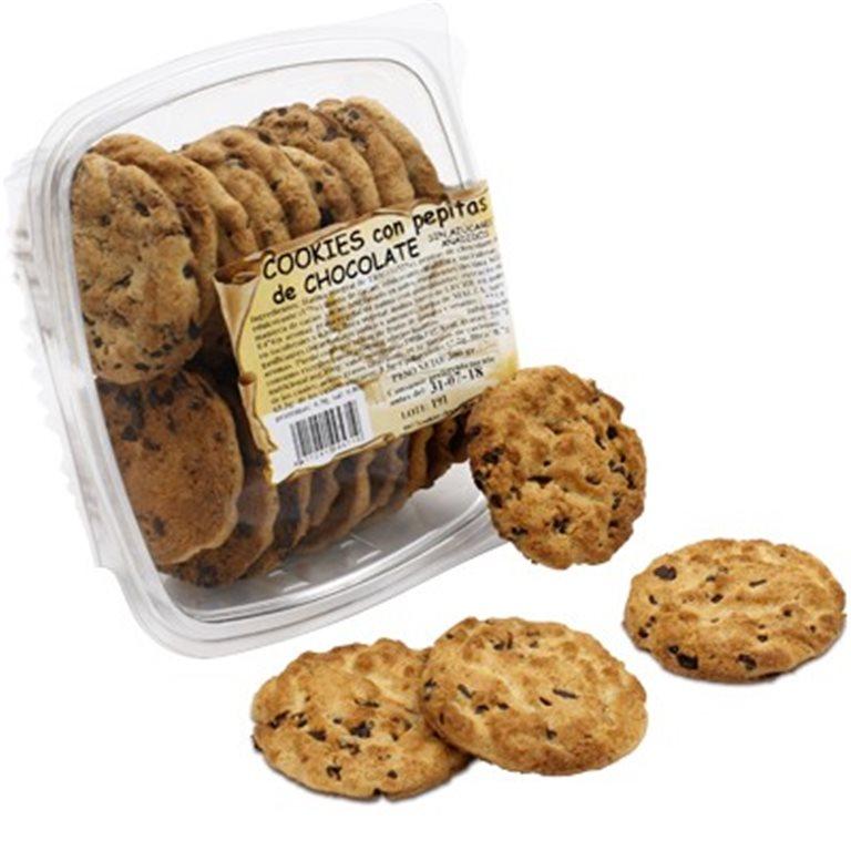 Cookies con pepitas de chocolate sin azúcares añadidos