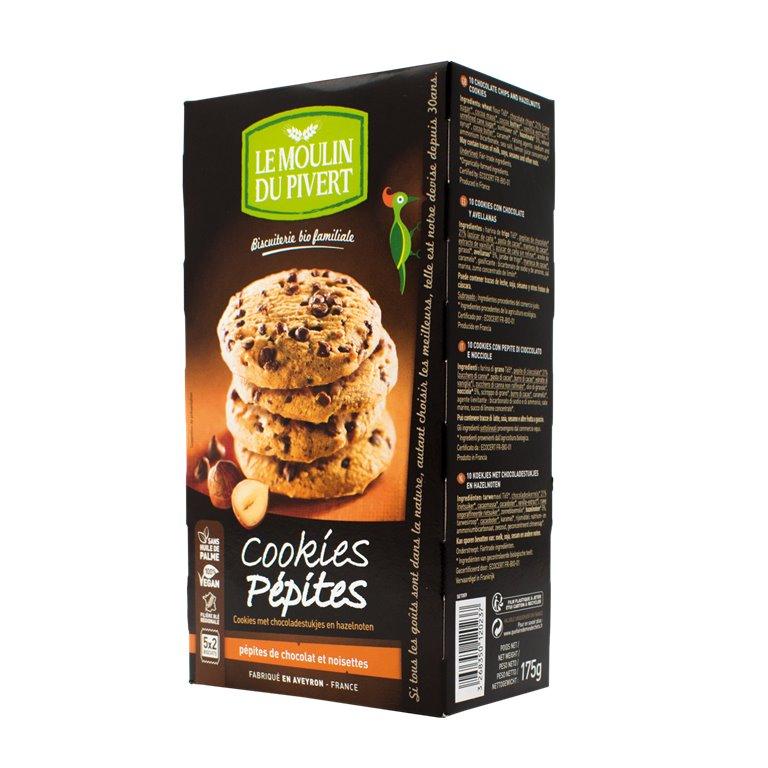 Cookies con Pepitas de Chocolate y Avellanas Bio Fairtrade 175