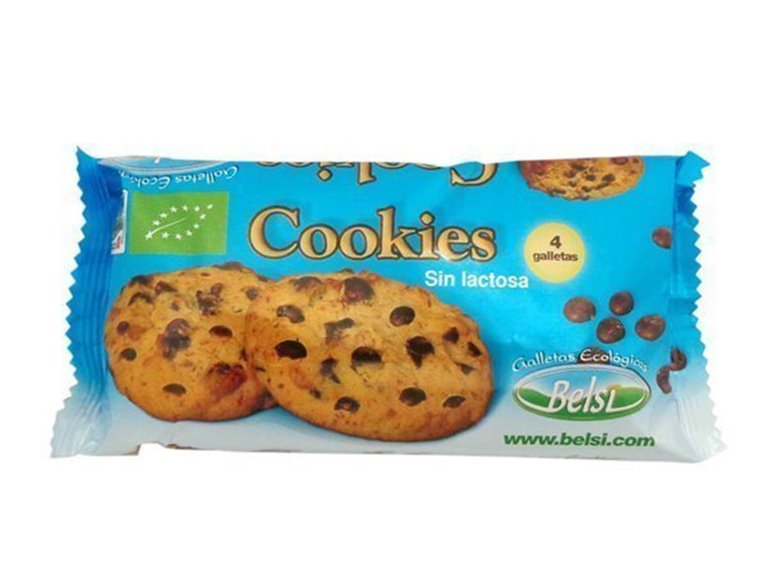 Cookies con trozos de chocolate SIN LACTOSA- 4-unds, 70 gr