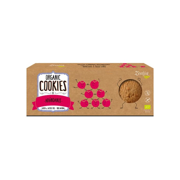 Cookies de Arándanos Sin Gluten Bio 135g