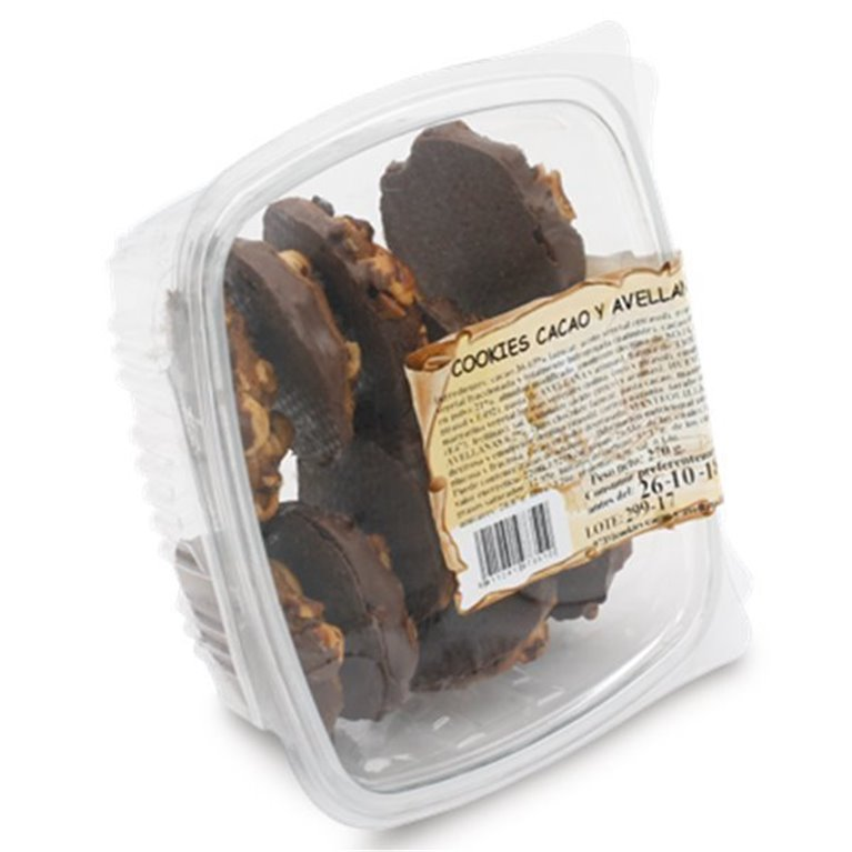 Cookies  de cacao y avellanas