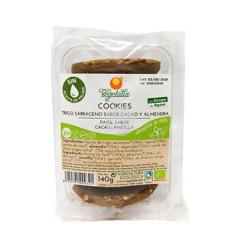 Cookies de Trigo Sarraceno Sabor Cacao y Almendra Bio 140g, 1 ud