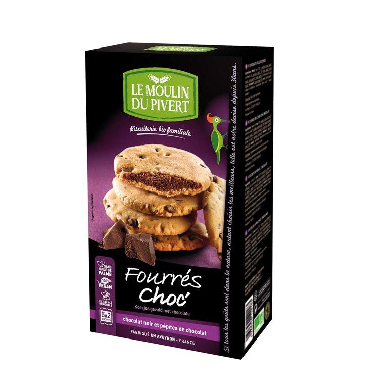 Cookies Rellenas de Chocolate Bio Fairtrade 175g