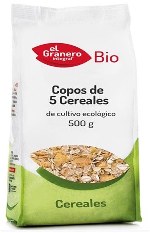Copos 5 Cereales Bio 500g, 1 ud