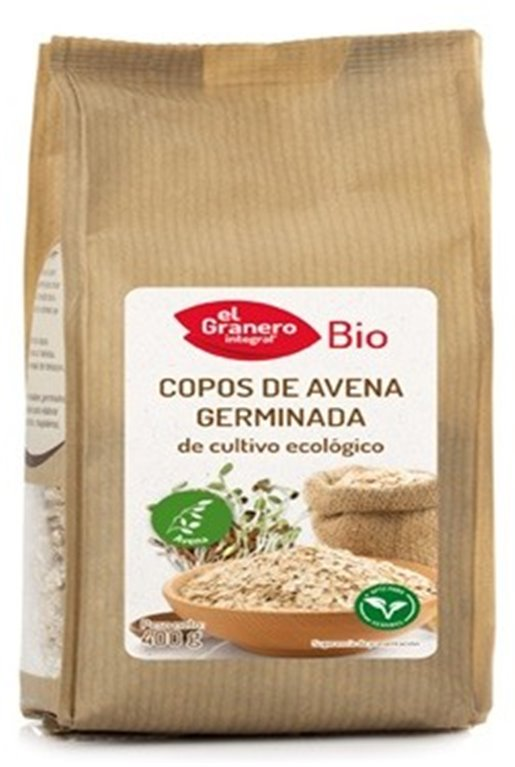 Copos de Avena Germinada Bio 400g, 1 ud